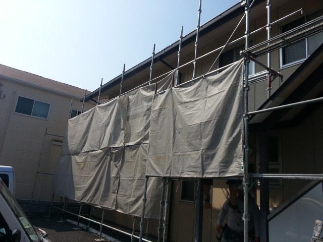 町田市 外部鉄骨階段・タキステップ・雨樋新設工事