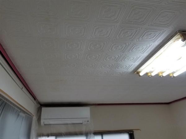 中野区 Mコーポ202号室 天井塗装工事