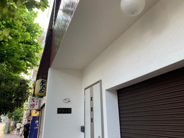 新宿区 Sビル 軒天補修工事