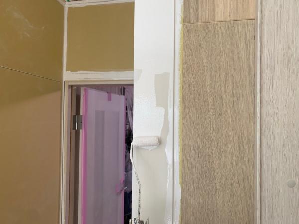 新宿区 K様邸201号室 内部塗装工事中 様子